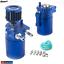 Universal-Aluminum-Baffled-Oil-Catch-Can-Reservoir-Tank-200ml-Breather-Filter thumbnail 1
