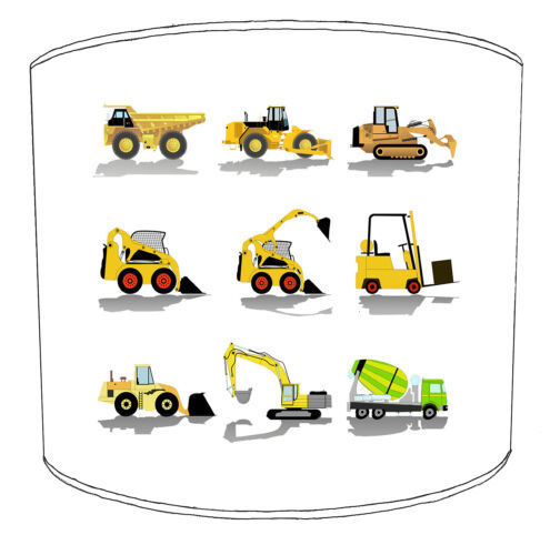 Boys Tractor Lampshades Ideal To Match Boys Tractor Bedding Sets /& Duvet Covers