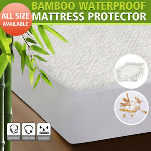 DreamZ-Mattress-Protector-Topper-Bamboo-Fabric-Waterproof-Double-Queen-King-Size
