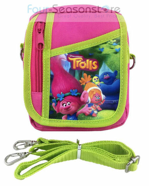 95466ae321b88 Trolls Poppy Hot Pink Camera Pouch Bag Wallet Purse With Shoulder Strap.  Size 7 for sale online | eBay