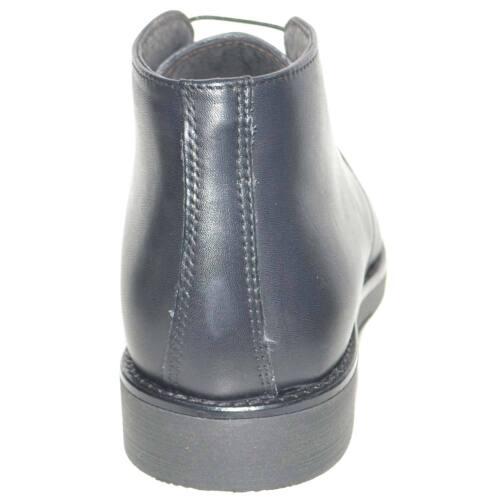 veau basique hommes en véritable confort italien Bottines pour cuir d'hiver style noir 6TzEX1F