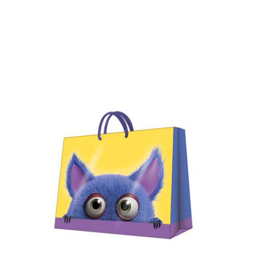 Printed Paper Gift Present Bag HELLO THERE Children Kids Birthday Horizontal D