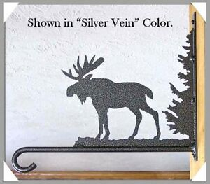 Details About Moose Plant Hanger Hook Rustic Lodge Cabin Garden Metal Art Wall Decor Usa Made