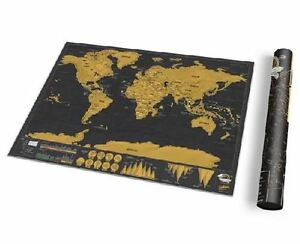 Deluxe travel scratch off map personalized world map poster luckies image is loading deluxe travel scratch off map personalized world map gumiabroncs