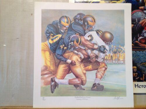 Université Michigan Wolverines Du Football Reevers le Imprimé Proud Traditions