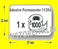 10 rotoli ETICHETTE 11354 COMPATIBILI DYMO LABELWRITER 450 e 400 - Mis.57X32 mm.