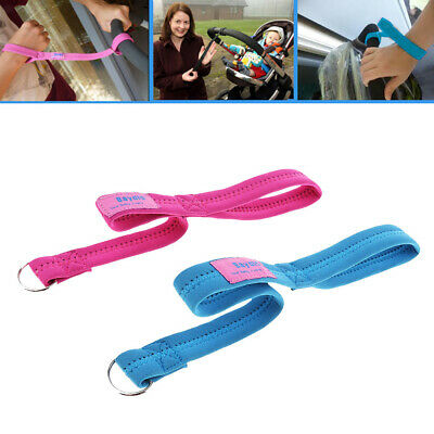 2pcs Buggy Stroller Pram Safety Belt Wrist Strap Hand Tug Travel Accessory