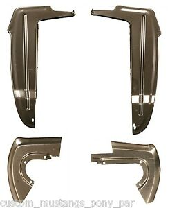 Mustang Splash Shield Set & Rubber 1964 1965 1966 66 Coupe Fastback Convertible