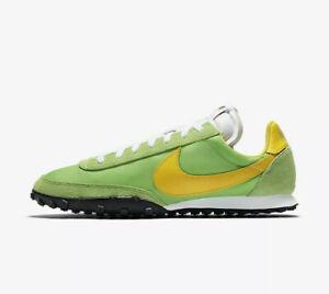 Nike-Waffle-Racer-Verde-Giallo-Nero-Bianco-CN8115-300-UK-9-10-11