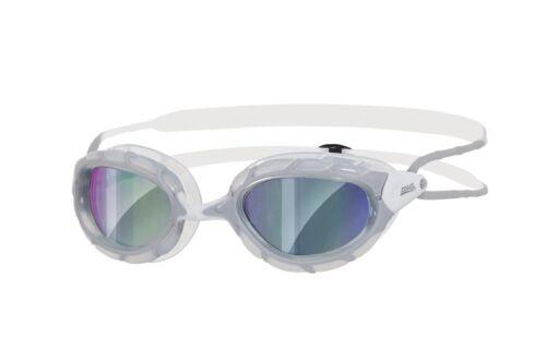 silver//clear//white Zoggs Predator Mirror