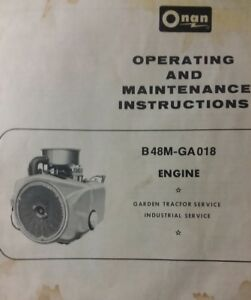 onan 18 h p owner \u0026 maintenance manual b48m ga018 engine garden 18 HP Onan Coil image is loading onan 18 h p owner amp maintenance manual b48m