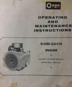 onan 18 h p owner \u0026 maintenance manual b48m ga018 engine garden 18 HP Onan Coil image is loading onan 18 h p owner amp maintenance manual b48m