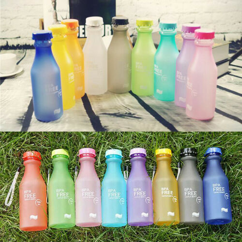 500mL BPA Free Portable Water Bottle Leakproof Plastic Kettle for Travel Running