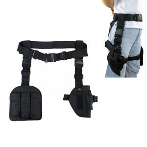 Tactical-Drop-Leg-Holster-Hunting-Right-Hand-Pistol-Gun-Holster-with-Mag-Pouch