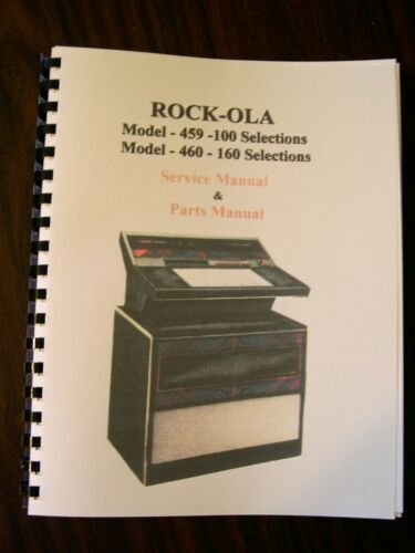 Rock-ola 459//460 Jukebox Service /& Parts Manual