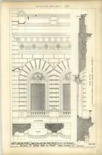 1879 Art Union Of London New Premises 112 Strand Upper Part Front Detail