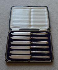 William Hutton solido Argento Set di 6 coltelli marchiato SHEFFIELD 1922