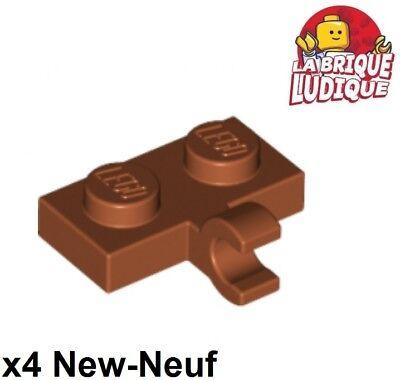 Lego 4x Plate Modified plaque 1x2 Clip Horizontal crochet bleu//blue 11476 NEUF