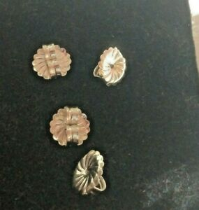 Sterling silver JUMBO Earring Backs 9.5 MM 10 Pair Fancy Earnuts Spiral Flutes