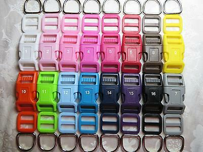 3/4'' (20mm) Dog Collar Hardware Kits -Strong Buckles,Qty & Color pick