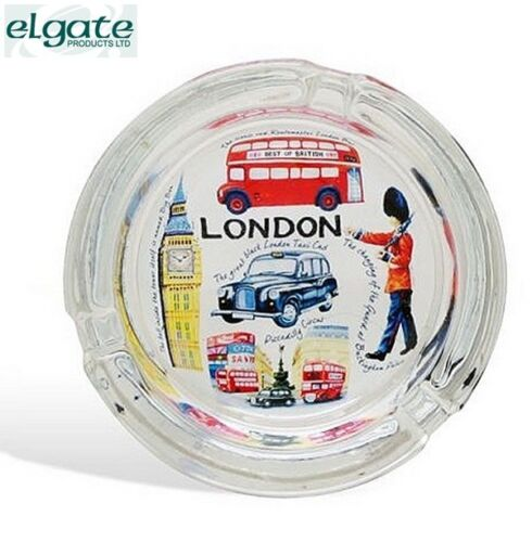 Elgate Iconic London Ashtray Glass In Display Box Gifts Souvenirs Accessory New