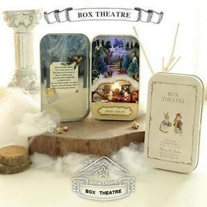 Snow-Dream-DIY-Dollhouse-Miniature-Kits-New-Box-Theatre-Toy-Lamp-Music ...