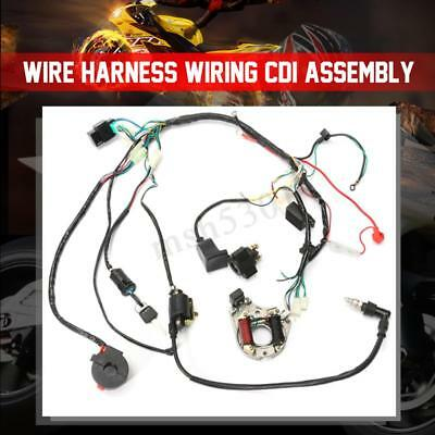 wiring harness kit for atv 50cc 125cc cdi wire harness stator assembly wiring kit for atv  wire harness stator assembly wiring kit