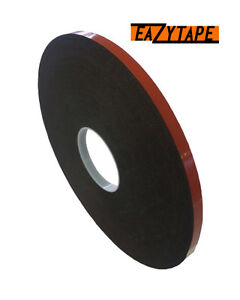 EazyTape-Double-Sided-Black-Foam-Tape-with-Heat-resistance-12mm-wide
