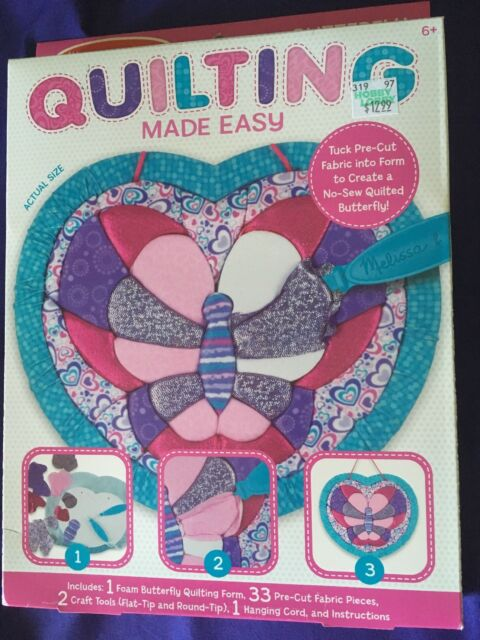 Melissa Doug Quilting Made Easy Butterfly Ages 6