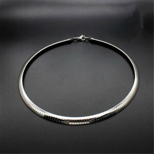 4-6-8mm-Stainless-Steel-Silver-Fashion-Women-Lady-Charm-Collar-Choker-Necklaces