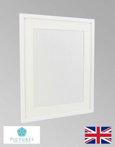 "Blanc Cadre Photo 19 mm 3x3/"" 3x4/"" 3x5/"" 3x6 3x7-3x16/"" 3.5x5/"" Glass Mount"