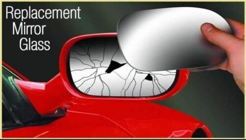 Right handside wing mirror replacement glass fits Ford Fiesta mk2 year 1983-1989