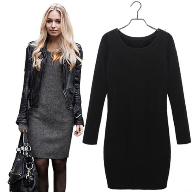 Fashion Women's Loose Hoodie Mini Dress Long Sleeve Casual Blouse T-Shirt Tops