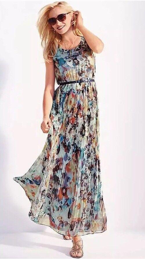 Kalidescope pleated dress 12 NWT