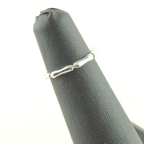 Midi Ring Size 3 Adjustable Bamboo Sterling Silver Toe
