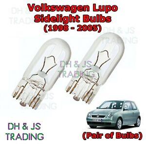 5 SMD LED XENON WHITE 501 T10 W5W SIDELIGHT BULBS VOLKSWAGEN VW LUPO GTI TDI