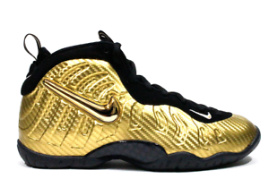 f33f84ca802 NIKE LITTLE POSITE PRO (GS) METALLIC GOLD-BLACK SZ 7Y-WOMENS SZ 8.5 ...