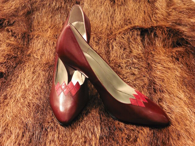 Great shoes Heel Xavier Dale all Leather Bordeaux Vintage 80 New T.36.5