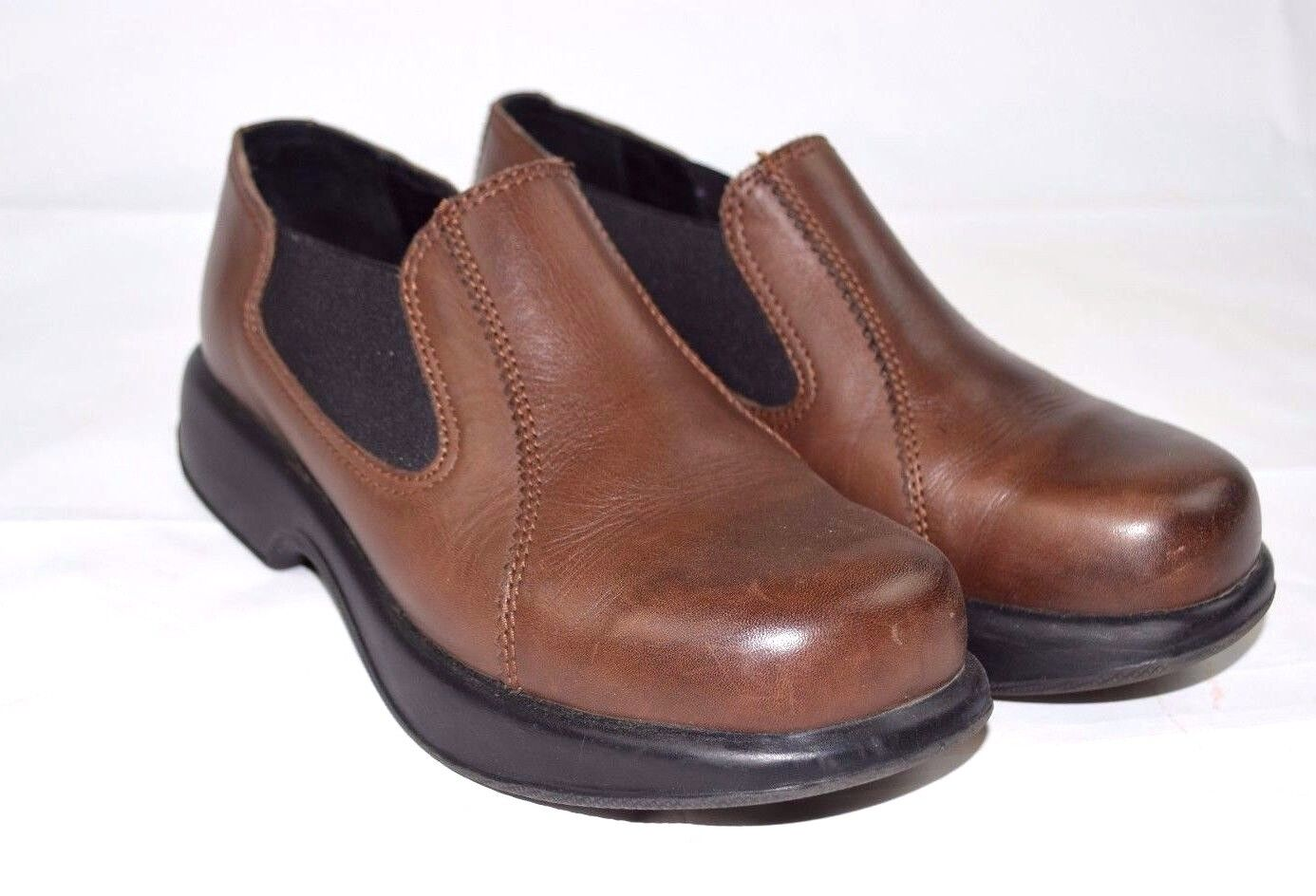 Dansko Brown Leather Elastic Slip On Clog shoes shoes Size 40 (US 9.5-10)