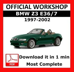 official workshop manual service repair bmw series z3 e36 7 1997 rh ebay co uk 1997 bmw z3 1.9l roadster owners manual 1997 bmw z3 1.9l roadster owners manual