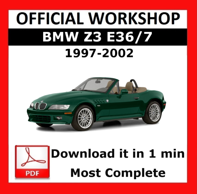 official workshop manual service repair bmw series z3 e36 7 1997 rh ebay com 1997 bmw z3 1.9l roadster owners manual 1997 bmw z3 1.9l roadster owners manual