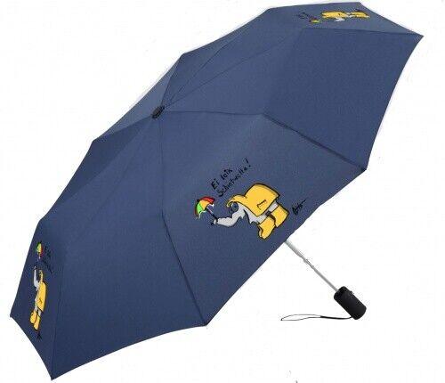 Schietwetter Ottifant Regenschirm Taschenschirm denim by Otto Waalkes