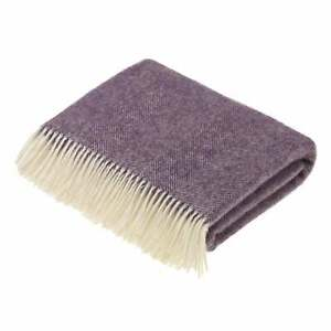 Bronte-By-Moon-Shetland-Herringbone-Throw-Lavender