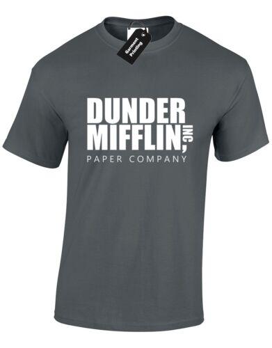 Dunder mifflin logo hommes t shirt bureau usa comédie tv show print nouveau gents