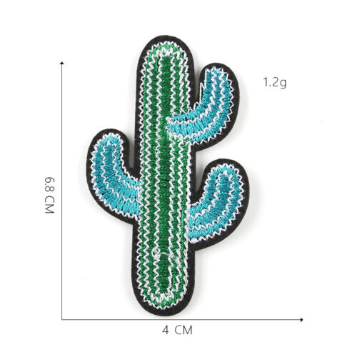 DIY Cactus Embroidered Sew Iron On Badge Patches Clothing Fabric Applique Crafts