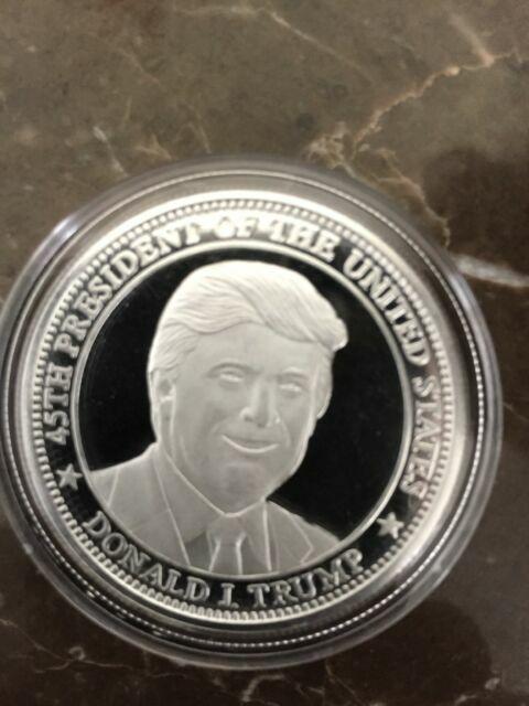 Donald Trump USA 45th President Ultra High Relief ~ 2 Oz .999 Fine Solid Silver.