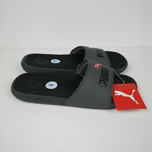 PUMA Cool Cat Slides Sandals Gray Black
