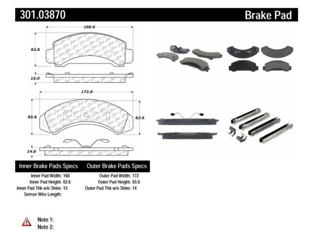 Centric Ceramic Brake Pad 301.05880
