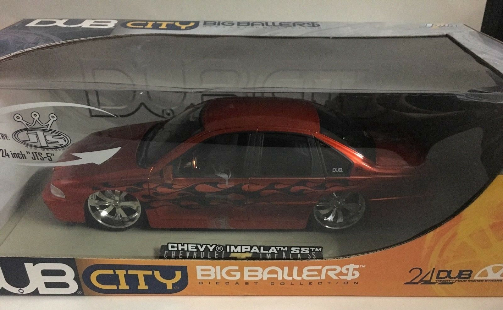 1996 DUB CITY BIG BALLERS CHEVY IMPALA SS 1 18 échelle DIE-CAST Jada Orange