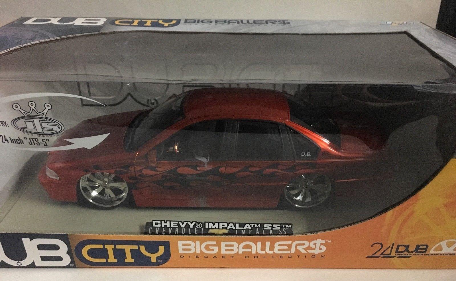 1996 Dub City Big Ballers Chevy Impala Ss 1 18 Escala DIE-CAST Jada Naranja